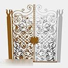 Cancello di ferro personalizzato