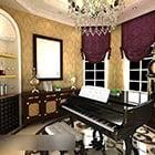 ピアノルームのインテリア