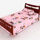 Różowe łóżko dziecięce