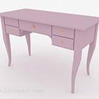ピンクの机