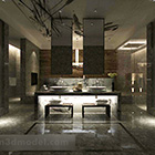 Public Bathroom Luxury Sink Interior