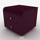 Purple Atmospheric Bedside Table
