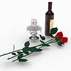 زجاجة الأرجواني الديكور النبيذ الاحمر