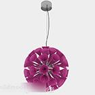 Okrągłe żyrandole w kształcie fioletowych rogów