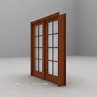 Pintu kayu tarik tarik