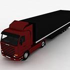 Red Black Big Truck
