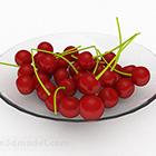 Rotes Kirschscheibenfutter