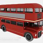 Punainen kaksikerroksinen bussi