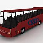 سيارة حافلة حمراء الطلاء الممتاز