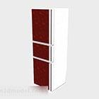 Red Three Door Refrigerator