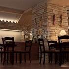 Wnętrze restauracji w stylu wiejskim