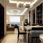 Lägenhet Dinning Space Cabinet Interiör