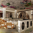 Restaurang Round Table Interior V4