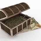 Boîte en bois de pièce de monnaie rétro