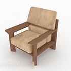 Mobili in legno marrone divano singolo rurale