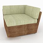 Mobili divano in legno verde rurale singolo