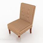 Design di mobili per divano singolo marrone a righe rurali