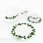 Set da tè in ceramica di design rurale