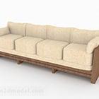 Mobili per divani a più posti in legno marrone
