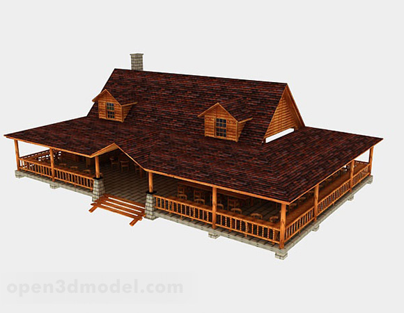 Country Wooden House Architecture