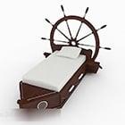 Łóżko dziecięce Ship Theme