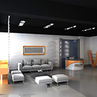 Showroom-showroomin sisustus