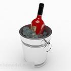 Bucket Ice Metal Perak