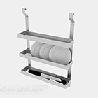 Stainless Steel Three Layer Bowl Rack