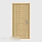 Proste wspólne drzwi z litego drewna