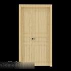 Jednoduché společné dveře z masivního dřeva