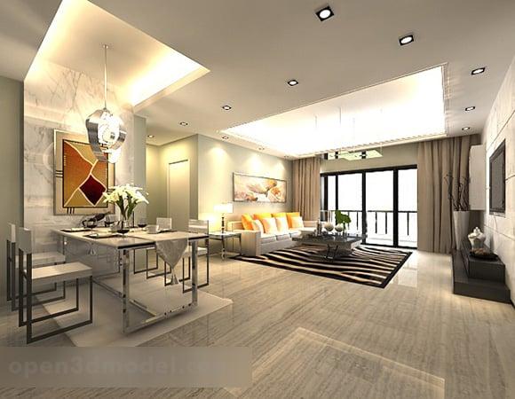 Simple Dining Room Living Room Interior