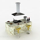 Marble Pattern Multi Functional Cabinet
