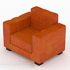 أريكة برتقالية منزلية من القماش V1