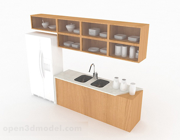 Simple White Kitchen Cabinet Free 3d Model Max Open3dmodel 327154