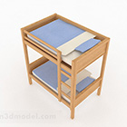 Simple Wooden Bunk Bed