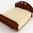 Domácí postel z masivního dřeva