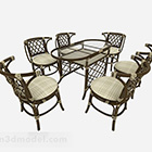 Southeast Asia Dining Table Chair Set