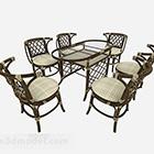 Conjunto de silla de mesa de comedor del sudeste asiático