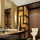 Aasian kylpyhuone sisustus