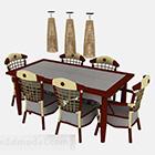 Tavolo da pranzo e sedia del sud-est asiatico