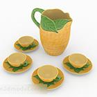 Set da tè in ceramica in stile sud-est asiatico