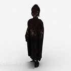 Rzeźba azjatyckiego mnicha buddyjskiego