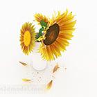 Sunflower Interior Flower Vase