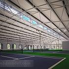 Wnętrze kortu tenisowego