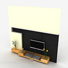 Meuble de télévision en bois élégant et moderne