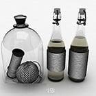 Décoration de bouteille en verre simple