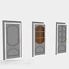 Three Wooden Doors