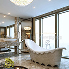 Toilet With Classic Bathtub Interior