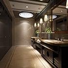 Restaurant Elegant Design Toilet Interior