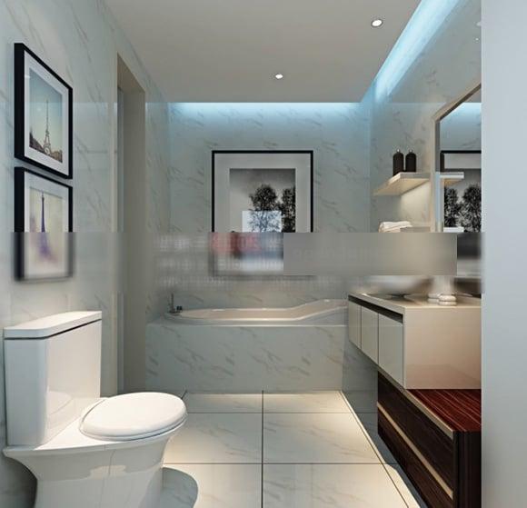 Toilet Simple Bathroom Interior